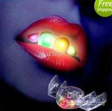 hot sale!newest novelty! led flashing mouth,mouth light,party toy,Helloween funny toy,free shipping(China)