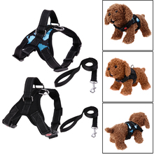 Dog Harnesses Heavy Collar Strap Vest Canvas Traction Rope Lead Leash Training Vest Chest Strap for Dog Collar 2 Color(China)