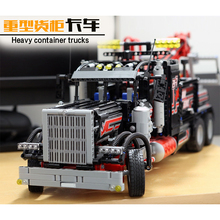 Lepin 20020 Tow Truck Ultimate Series The Mechanical American Style Heavy Container Building Blcoks Bricks Toys 8258(China)