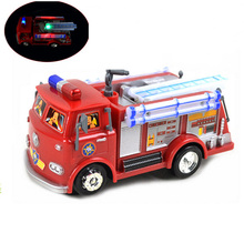 New Fireman Sam Toy Cars Truck Jupiter Music And Led Children Lovely Toys for Children's gifts Free Shipping(China)