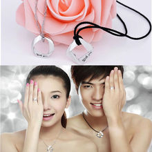 "New Sophisticated  Silver Couple ""With You"" Pendant Special Necklace fine Jewerly lovers 2 style Hot sale"
