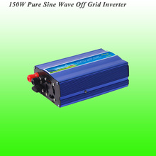 150W Off Grid Pure Sine Wave Inverter with DC12V/24V input, Wind Generator Inverter, 3 Years Warranty!(China)