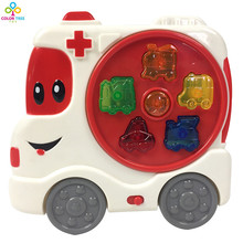 Electric B/O Cartoon Car Toy Ambulance With Light&Sound Fun Toy For Children(China)