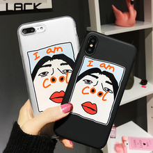 Buy LACK Cute Letter AM COOL Phone Case iphone X Funny Cartoon Couples Soft TPU Back Cover iphone 7 6 6S 8 Plus Fundas for $1.75 in AliExpress store