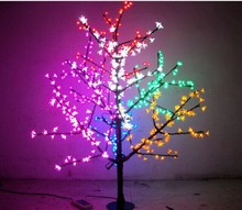 Free ship Christmas LED Cherry Blossom Tree Light 1.5m 480pcs Bulbs 110/220VAC Colorful Color Rainproof Outdoor Usage(China)