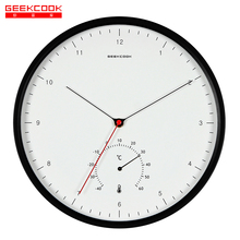 New Creative Metal Designer Wall Clocks Simple Scale Nordic Minimalist Style Thermometer Hygrometer Multi-function Wall Clock