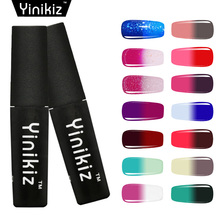 Yinikiz 1pcs Hybrid Nail Paint Temperature Changing Color Soak Off Gel Lacquer Color Changing Gel Polish Chamelon(China)