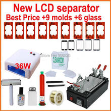 110V / 220V Newest touch screen repair kit LCD separator machine +mould+Dispergator+ cutting wire+UV lamp(China)