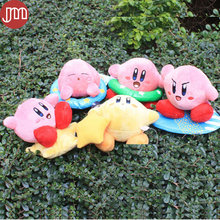 New Super Mario STAR Kirby Plush Doll Keychains Popopo Key Ring Pendant 10-14cm Kid Toy Christmas Gift