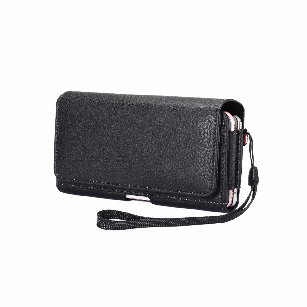 Universal Outdoor Double Pockets Bag Phone Cover Belt Case For iPhone 4 4s 5 5s 5c SE 6 6S 7 8 Plus Magnetic Pouch 6.0 Below