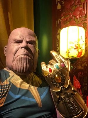 Thanos Cosplay Mask & Gauntlet Take Control of Your Infinity Saga Universe 20