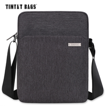 TINYAT Men's Shoulder Bag Multifunctional Man Casual Messenger Bag for Ipad Phone Canvas Sling Bag Business Casual Briefcase 512(China)