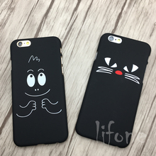 Kerzzil Cute Cat Kids Animal Sketch Phone Case For iPhone 6 6s 7 Plus Back Hard Cartoon Cover For iPhone 7 6s 6Plus Capa Coque