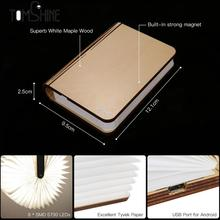 Chic Creative LED Book Light Lamp Folding LED Nigh tlight Best Home Novelty Decorative USB Rechargeable new year gift Warm White(China)