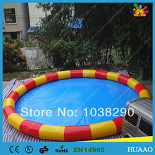 Commercial colorful swimming pool round inflatable PVC pool with free air blower and free shipping by air express to door(China)