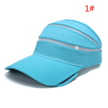 New Fashion Men And Women Sun Hat Outdoor Topless  Summer Tennis Baseball Cap Sun Hat Plastic Visor Hat For 4 Colors D02635