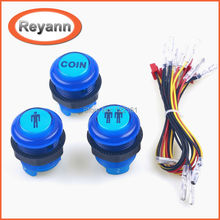 Reyann LED Illuminated Arcade Start Player Buttons 1P 2P with Microswitch for MAME, JAMMA, Arcade Video Games, Arcade Controller(China)