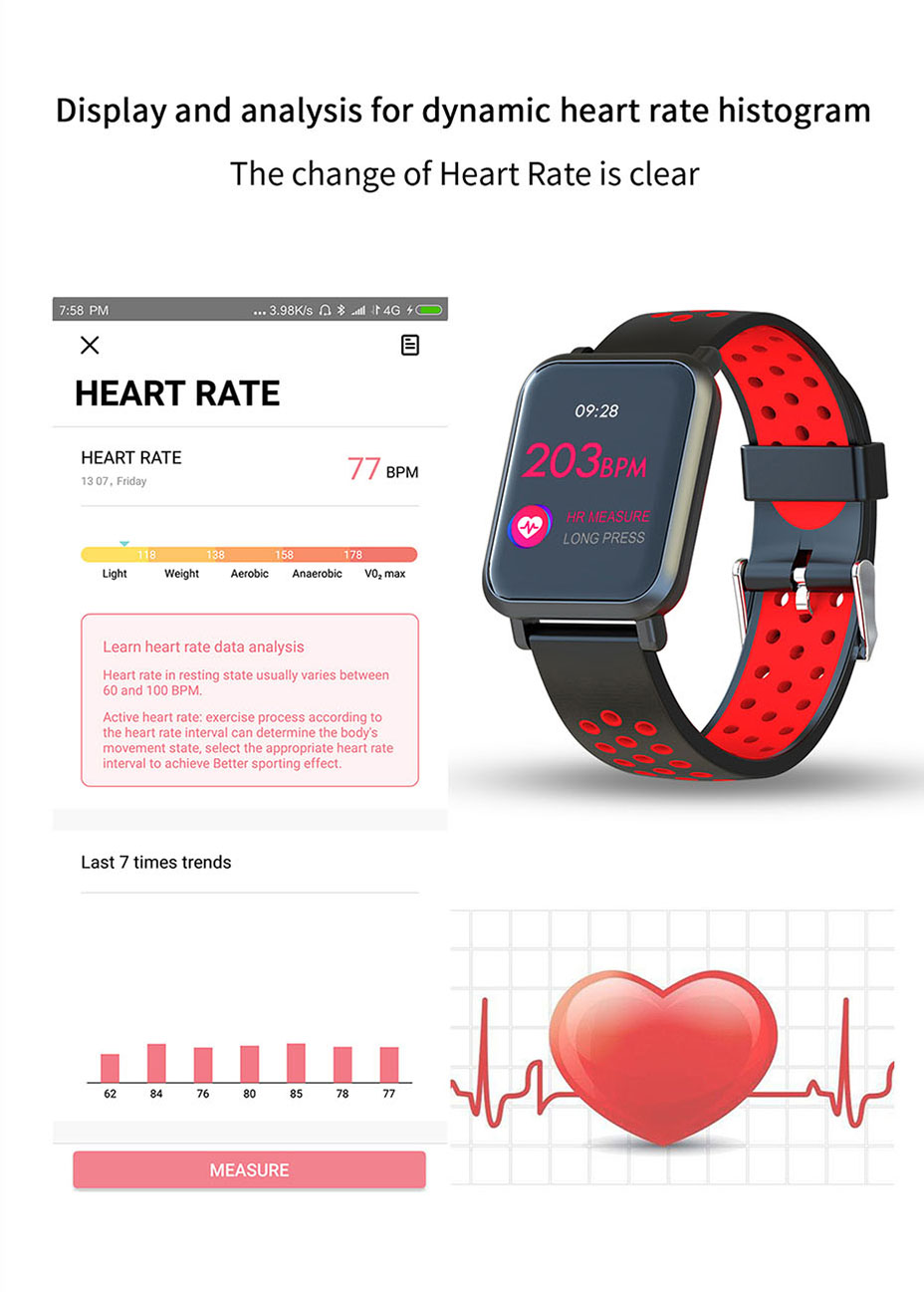 COLMI Smart Watch Men Tempered glass Fitness Tracker Blood pressure IP68 Waterproof Activity Tracker Women Smartwatch 10