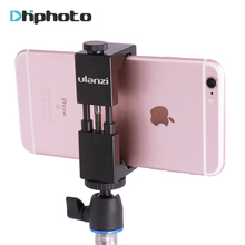 Smartphone Tripod Mount - Ulanzi IRON MAN Aluminum Metal Universal Smart Phone Tripod Adapter Holder Clip for iPhone 7 plus(China)