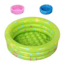 Free shipping! 3 Rings 94x38cm Ocean World Inflatable Baby pool baby swimming pool,round shape kids pool(Blue/Green/Pink)(China)