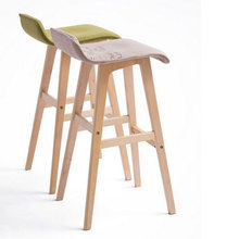 100% wood Bar chair,Bar stools sillas,cadeira,pastoral style bar chair,leisure style,Multiple color choices,Wood Bar furniture(China)