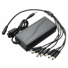 NEW Power Supply Adapter DC12V 4A 5A 6A With 8 Split Cable For CCTV Security Surveillance CCTV Camera DVR