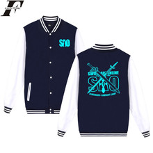 LUCKYFRIDAYF Sword Art Online Jacket Fashion Print Sweatshirt Oversize Coat Plus Size Autumn Men Baseball Jacket XXS Streetwear