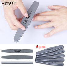 Elite99 5 x Nail Files Sanding 220/240 Curve Nail Art Sanding File Bar for Nail Art Tips Manicure Accesssories