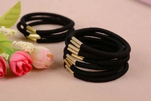 10pcs Black Elastic Ponytail Holders Hot Fashion Hair Accessories Girl Women Rubber Bands Tie Gum(China)
