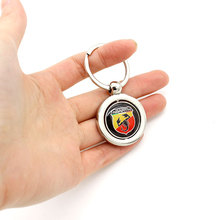 Luluda KeyRing For Alfa Romeo BMW benz audi Ford Porsche Peugeot Logo Metal KeyChain Badge Key Ring Emblem Key Holder Chain(China)