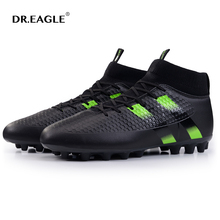 DR.EAGLE spike soccer football shoes high ankle men crampon football boots superfly original cleats futzalki football sneakers(China)