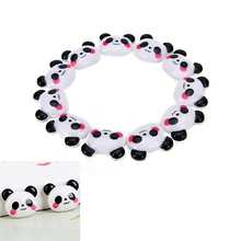 10Pcs Cartoon DIY Resin Panda Figurines Miniatures Flatback Cabochon Scrapbook Embellishment Phone Decoration Crafts Wholesale
