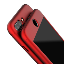 For Apple iPhone 7 6 6s Plus 360 Case Protection Luxury Mobile Phone Case Cover Coque Nano Glass case For iPhone6 7 Cases