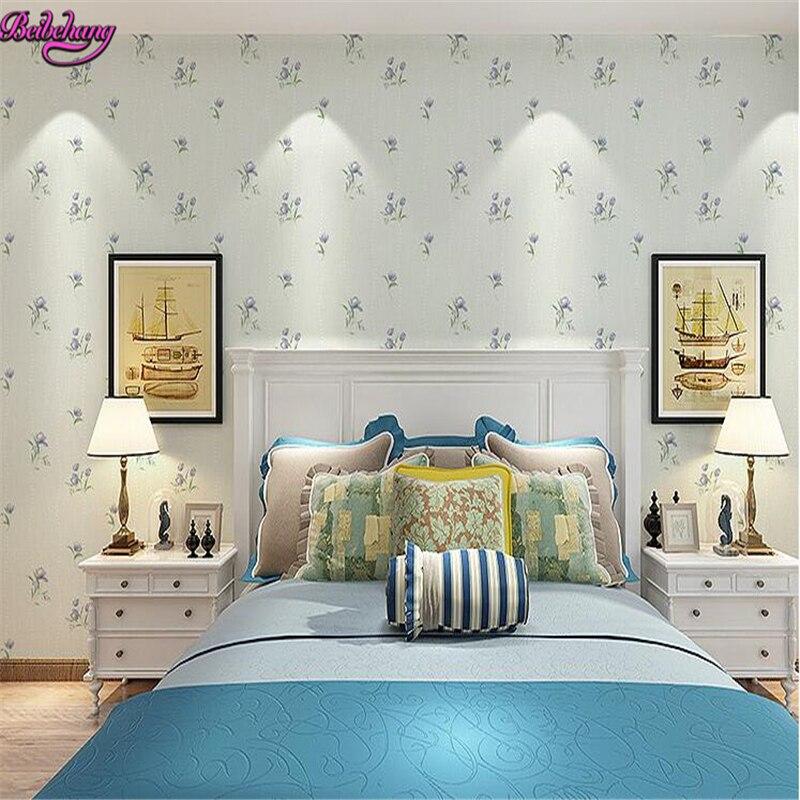 beibehang papel de parede Pastoral Small Floral 3d Wallpaper Bedroom Warm Living Room TV Background Sofa Wall paper papier peint<br>