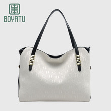 BOYATU Top-handle Bags Female Guesse Luxury Handbags Women Bags Designer High Quality O Bag Handles Price for Women 2017 White(China)