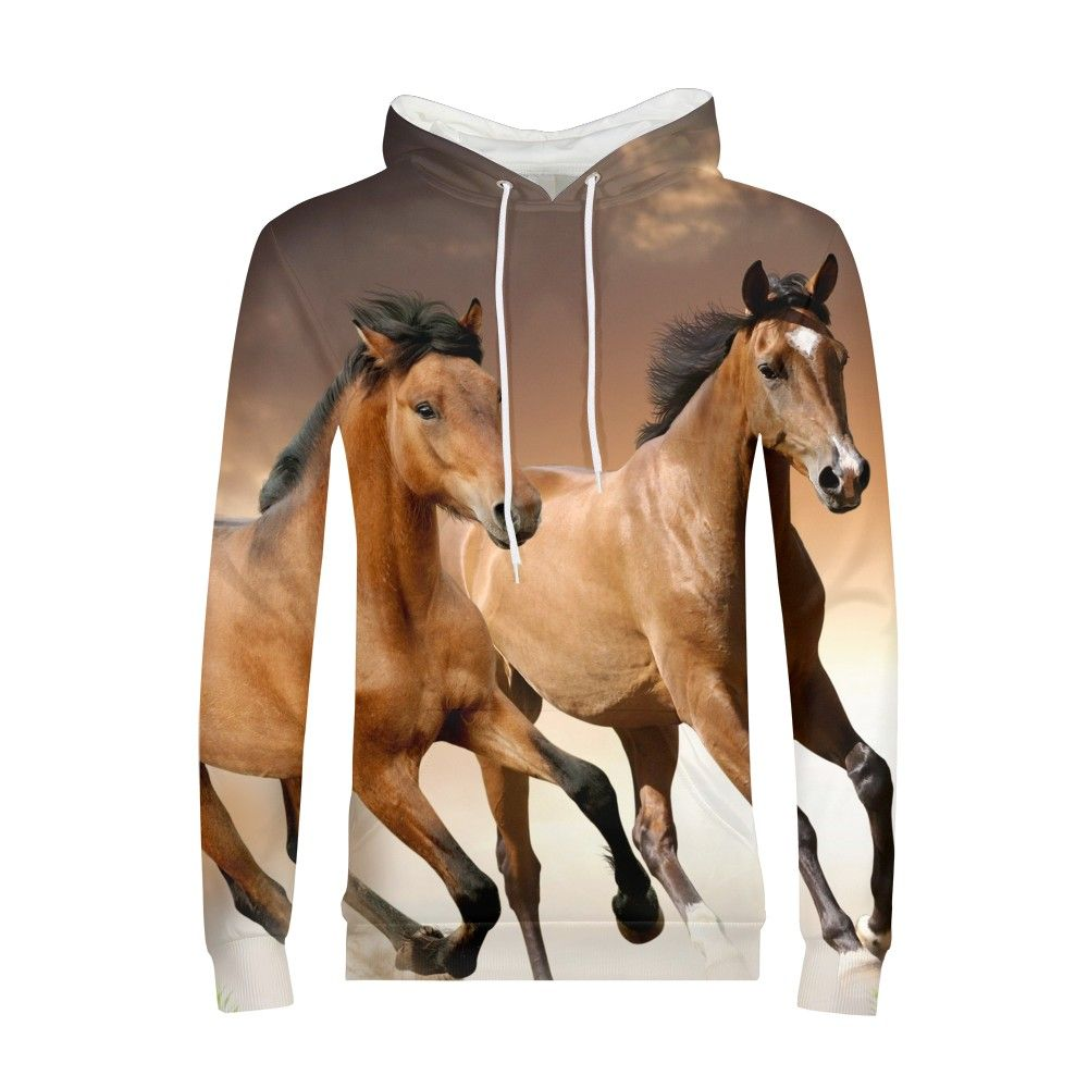 Forest Wild Horse Hoodie 3D Hoodies Anime 3d Printed Sweatshirt Hooded Animal Mens Clothing Casual Sweatshirts Man New Pullover