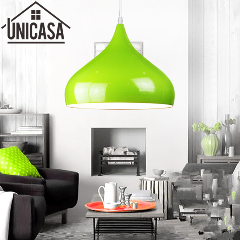 Pendant Lights Kitchen Island lamps Modern Ceiling Lamp Green Vintage Bar Wrought aluminum Metal Lighting Fixtures for 1 pic<br>