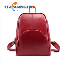 Chuwanglin Fashion Women genuine Leather Casual Backpack Women's School Bag Travel backpack mochila feminina lmy22215