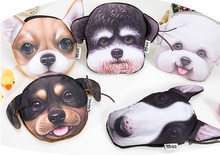 NEW Irregular Shapes - Gift Plush Dogs Coin Storage Box Coin BAG Wallet Purse , Pocket Doggies Coin Box Pouch Organizer bag