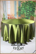 "New Design For 2016 90"" 108""  128"" Olive Green Taffate Tablecloth For Wedding Party Home Decorations/Wedding  Supplies"