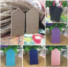 6 Colour DIY Kraft Tag Gift Box Swing Tag Wholesale 4x7cm Wedding Favour Tag  Garment Tag Custom Design Cost Extra