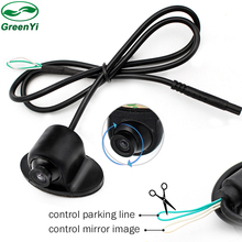 GreenYi MiNi 360 Degree Rotation HD CCD Parking Assistance Camera Front / Side / Rear View Camera For Car DVD Monitor(China)