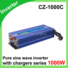 1000 watt inverter pure sine wave inverter with charger DC 12v to 110vAC(China)