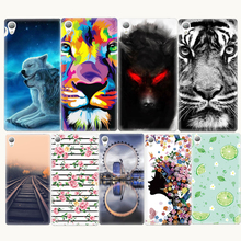 New Soft TPU Animals Paining Case For Sony Xperia XA Z3 Mini Z1 Compact M4 Aqua Tiger Flowers Pattern Coque Cover Shell Cell