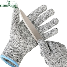 Hunting Fishing Camping Cut Resistant Gloves Winter Soft Anti-slip Gloves Cut Proof Safety Garden Kitchen Working Pesca Tackle(China)