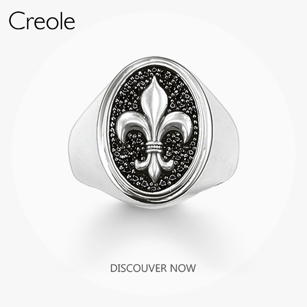 Stainless Steel Antiue Fleur De Lis Hexagon Crest Flat Top Biker Style Polished Ring