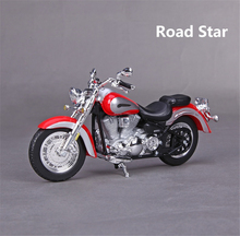 1/18 2016 Yamaha Road Star Red Motorcycle Motorbike Diecast Model w/Removable Base Christmas Kids Gift Collection Gifts