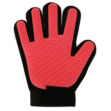 Rubber Red True Touch Dogs Deshedding Brush Glove Right Hand Pet Cat Dog Grooming Cleaning Gloves Comb Dogs Bath Massage Supply