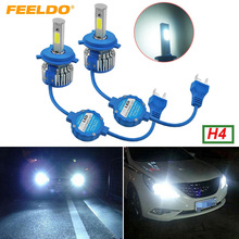 Buy 15Pair H4 Hi/Lo Led Headlight Kits 6000K 48W 5200LM Car LED Headlights COB Chips Fog Light Bulbs Xenon Light Bult-Cooling Fan for $158.90 in AliExpress store