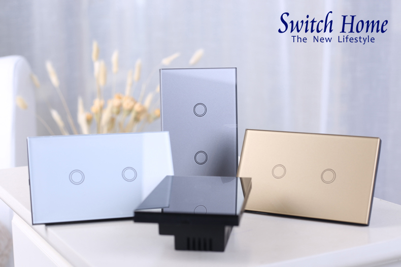 EUUK Standard switch home Remote Control Switch 123 Gang 1 Way ,RF433 Wall Switch, Wireless remote control touch light switch (6)